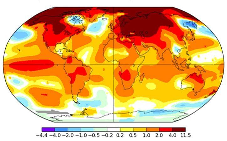 1.35C World Temperature Rise