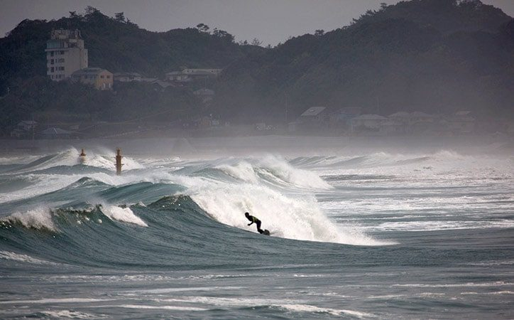 Surfer in Fukushima