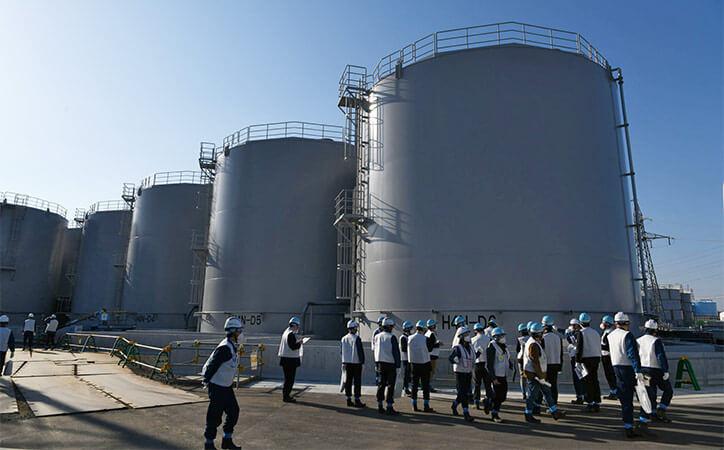 Water storage tanks at Fukushima Dai-ichi